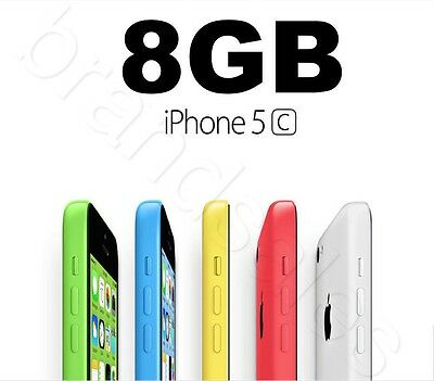 Apple iPhone 5c 8GB 4G LTE GSM 5 COLORS Smartphone 100% Unlocked AU USED