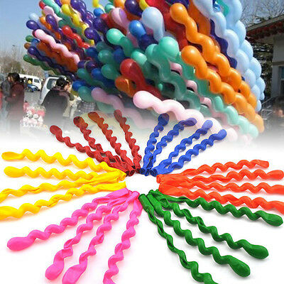 30pcs Mixed Spiral Latex Balloons Wedding Kids Birthday Party Decor Child Toy RF