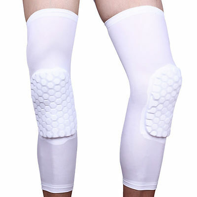 Basketball Crashproof Antislip Knee Leg Long Sleeve Protector Gear Honeycomb RF