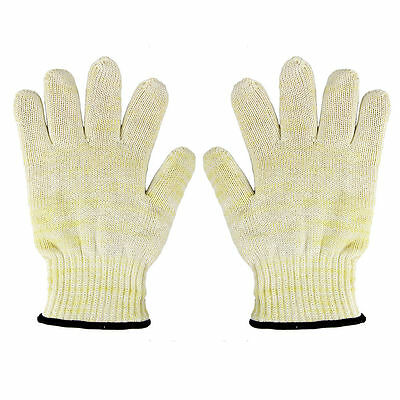 Pair Of Heat Resistant Oven Gloves Flame Proof Kitchen BBQ Non-slip Grip
