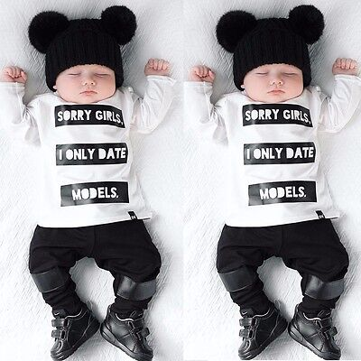 Cute Newborn 6 9 12 18 24 Months Baby Boys Outfit t Shirts Leggings Clothes Set