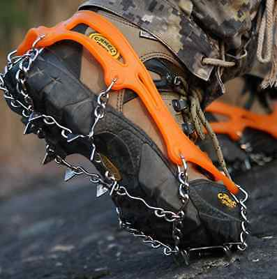 1 x Rock Fishing Climbing Shoe Cover Cleat Spike Grip Steel with carry bag OZ