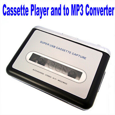 USB CASSETTE AUDIO TAPE CONVERTER TO iPOD MP3 CD PLAYER AND PORTABLE WALKMAN DT