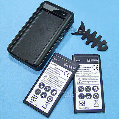 New 2x 6070mAh Battery Wall Charger for Verizon Samsung Galaxy S5 ET-G900V I9600