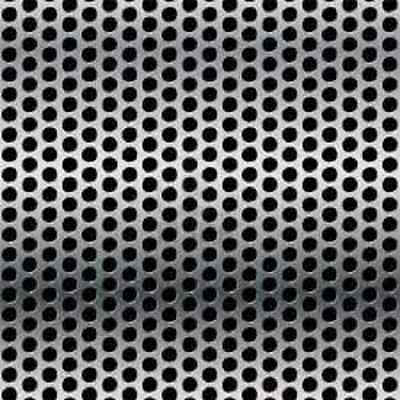 "Stainless Steel Perforated Sheet 22GA - 1/8"" holes - 3/16"" stagger - 12"" x 48"""