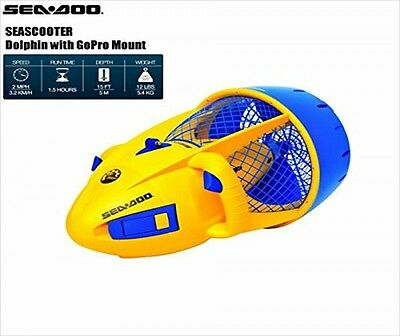SeaScooter Sea Doo Dolphin Compact Underwater Scuba Diving Battery Electric