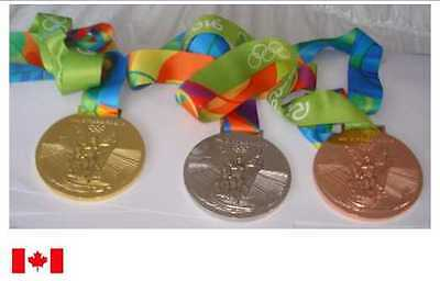 Rio 2016 Olympic Medals Ribbons Set with Logo Ribbons & Display Stands !!!