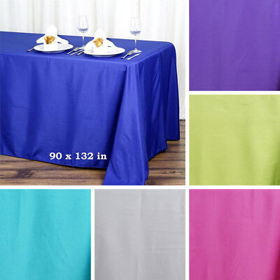 "24 pcs 90x132"" RECTANGLE Polyester TABLECLOTHS Wholesale Wedding Linens Supplies"