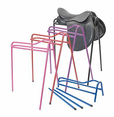 Collapsible Steel Saddle Stand 4 Colours Tripod Tack Rack Yard Stable Storage