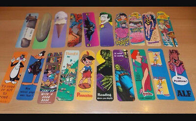 20 Assorted bookmarks from the 1980s. Super cool and unique. Unused not mint