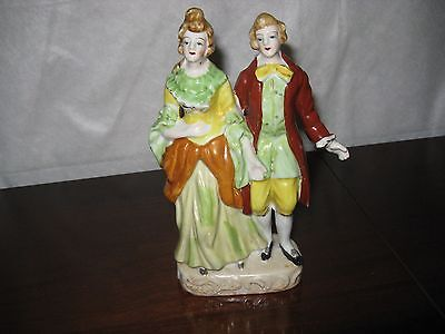 "Lovely Vintage Figurine of Man & Woman Made in Occupied Japan 7-1/2"" x 4"""
