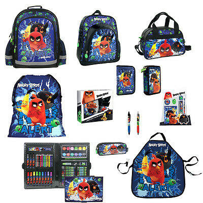 Angry Birds MOVIE Backpack Pencil Case Shoe Bag Pouch Lunch Box Stationery Pen