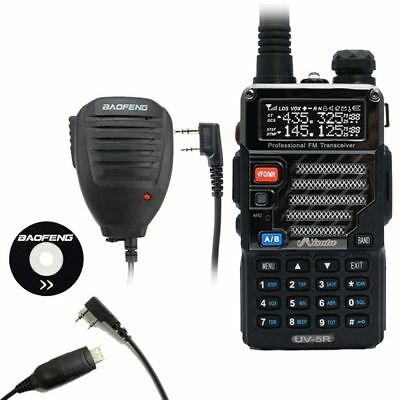 Baofeng x Misuta UV-5R Two Way Radio 136-174/400-520Mhz + Free Mic & Cable UK