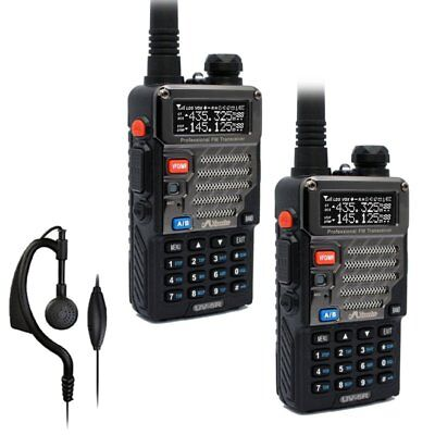 2 x Baofeng / Misuta UV-5R Radio Dual Band 136-174/400-520Mhz + Free Earpiece UK