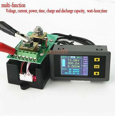 DC Battery 120V 100A LCD Voltage Current Watt Power capacity Digital Combo Meter