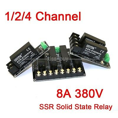 380V 8A 1/2/4  Channel Solid State Relay Module Board OMRON SSR AVR for Arduino
