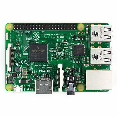 Raspberry Pi 3 Model B 1.2 GHz 64-bit Quad core ARM CPU with WiFi & Bluetooth