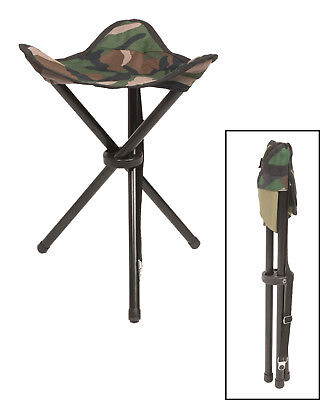 DREIBEIN KLAPPHOCKER woodland Faltsitz Campinghocker Angelstuhl Outdoor Military