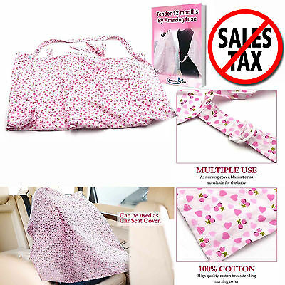 Quality Soft Cotton Baby Nursing Breastfeeding Cover Lightweight Breathable Apro