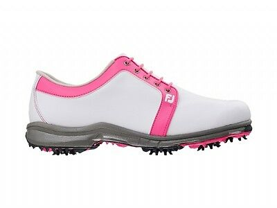 Footjoy Ladies AWD Waterproof Golf Shoe White/Pink (97813)