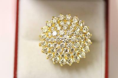 22ct/916 sparkling attractive indian gold ring size N 1/2 *Boxed*