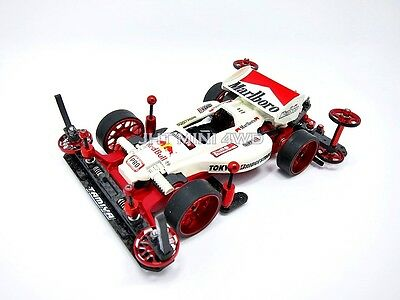 Expert Tuned-Up Tamiya Mini 4WD Red S2 Chassis with 2016 J Cup motor - Marlboro
