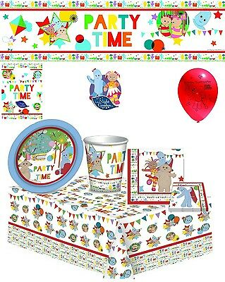 In the Night Garden Party tableware Kids Birthday Decorations Complete Kit 8,16