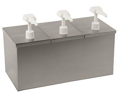 Insulated Condiment Dispenser 3 Pumps Concession Food Truck Snack Bar Cafeteria