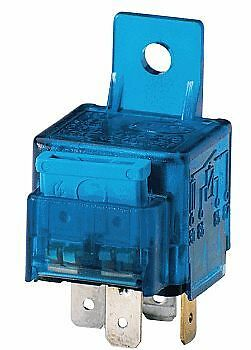HELLA 003530041 12V/25 Amp SPST Mini ISO Relay with 25 Amp Fuse and Bracket NEW