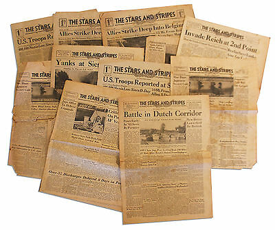 WWII US Armed Forces Newspaper Stars Stripes Sept 1944