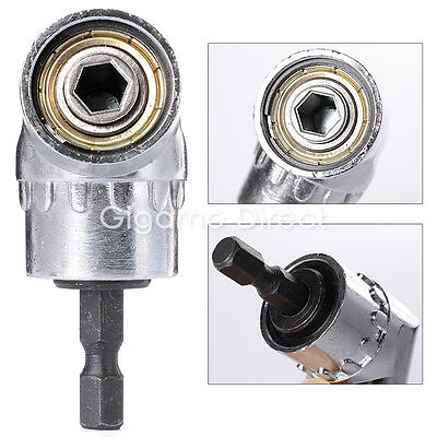 "105° 1/4"" 6mm Angle Drill Bit Hex Socket Attachment Offset Adapter Driver Holder"