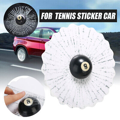 Car 3D Crazy Tennis Ball Hit Window/Body Creative Auto Sticker Windshield Decal