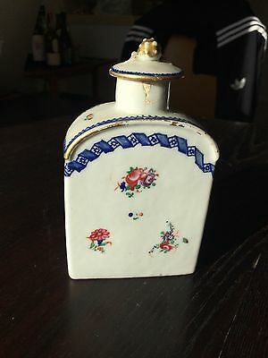 Antique 18Th Century Chinese Export Porcelain Tea Caddy Famille Rose