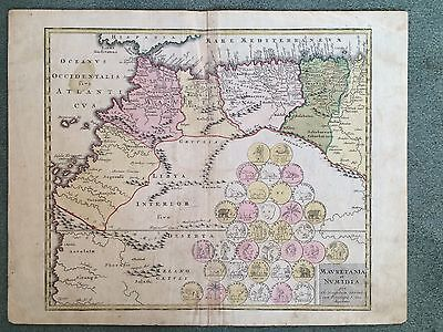Mauretania et Numidia by Map Maker Christopher Weigel  1718 North African Map
