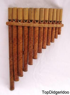 Authentic Native PAN FLUTE 12 Bamboo Pipes Genuine Zampona FREE SHIPPING WORLDWI
