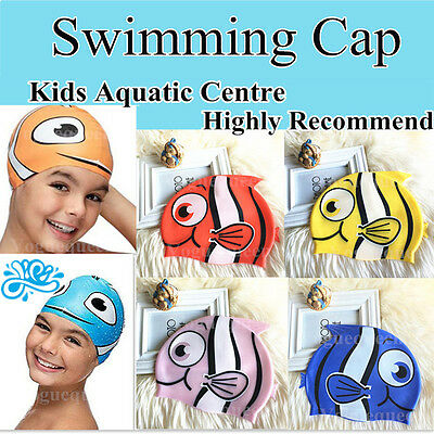 Swimming School Kids Boys Girls Children Junior Silicone Swimming Cap/ Hat