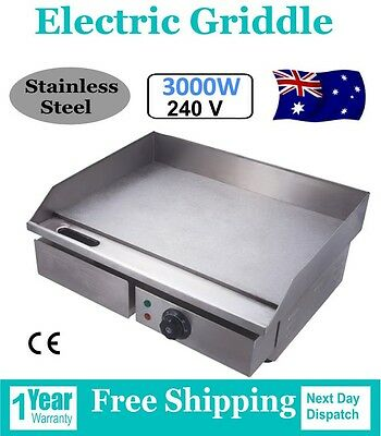 New Stainless Steel Griddle Electric Grill Hot Plate Commercial BBQ
