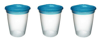 Griptight - Great Value 3 Pack of Storage Pots - Ideal for Food, Breastmilk, etc
