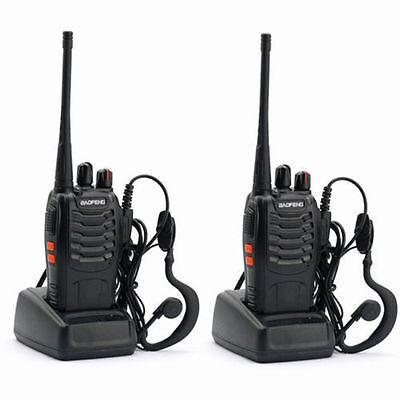 FREE* 2X BAOFENG BF-888S UHF WALKIE TALKIES 400-470MHz RICETRASMITTENTE UPS!