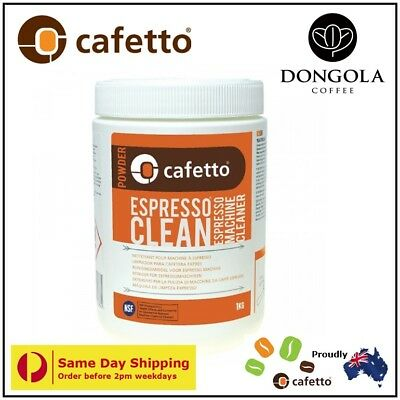 CAFETTO 1KG ESPRESSO CLEAN Coffee Machine Cleaner Professional Cleaning Powder