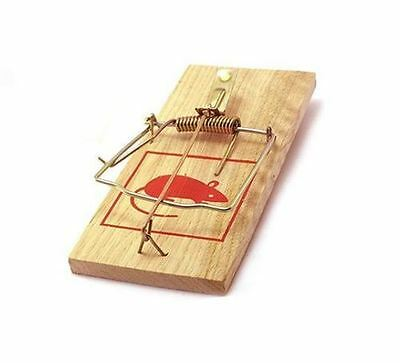 """STRONG 7"""" Wooden Rat Mouse Trap Large Traditional Classic Pest Control Reusable"""