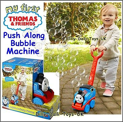 Thomas & Friend BUBBLE DELIVERY Engine Push Along Bubble Blowing Machine Toy New