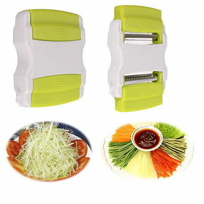 Potato Peeler Vegetable Apple Slicer Julienne Courgette Spiral 2 Sided Magic