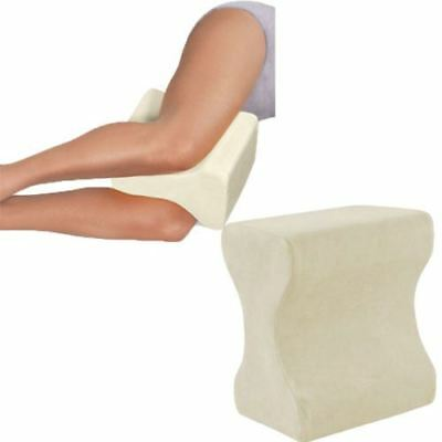 White Memory Foam Contour Leg White Pillow Firm Hips Back Knee Support + Cover