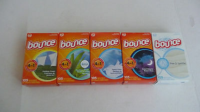 Bounce Dryer Sheets  Five Different Scents to Choose  105ct