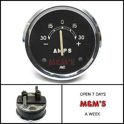 CLASSIC MINI - FORD  CAR / BOAT - 52 mm AMPS GAUGE (USED FREE UK POSTAGE