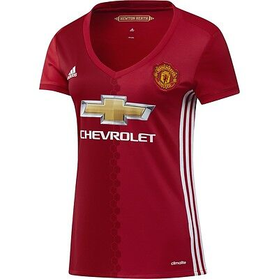 adidas Manchester United 2016 - 2017 Womens Home Soccer Jersey Brand New Red