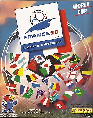 Reprint Album Made by Panini SPA Italy Complete Image No sticker WC 98