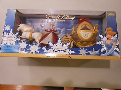 NRFB Mattel Walt Disney Cinderella Royal Holiday Carriage Holiday Collection