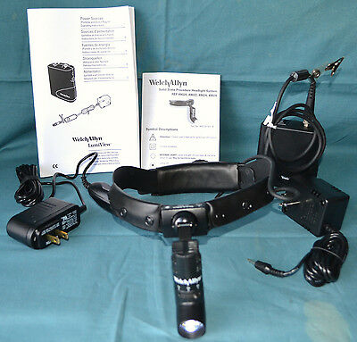 Welch Allyn Solid State 49020 Procedure Headlight System Case & Battery - Unused